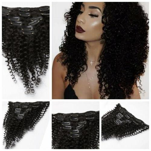 7pcs/set Kinky Curly Clip Hair Extensions US Stock