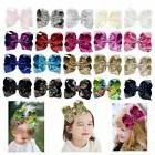 """8"""" Large Sequin Glitter Bow Hair Clips for Baby Girl Toddler"""