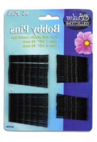 96 Hair Pins Soft Tipped Bobby Pin Hair Clips Assorted Sizes
