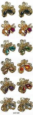 Bella Dz Pk 12 Mini Butterfly Jaw Claw  Hair Clips, Gold Ton