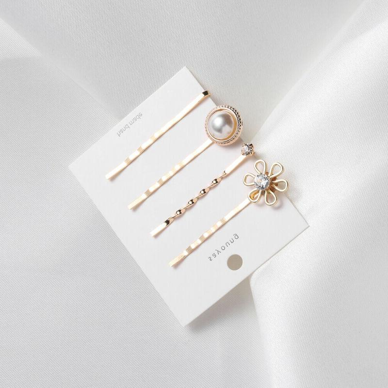 Accessories Heart Star Hairgrip Clips Crystal Hairpin