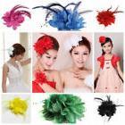 Beautiful Lace Pearl & Feather Flower Hair Clip/Corsage/Broo