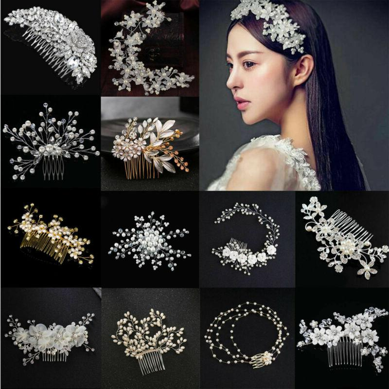 bridesmaid crystal flower hair slide comb wedding
