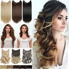 Brown Mix Straight Wavy No Clips Hair Piece Extensions Secre