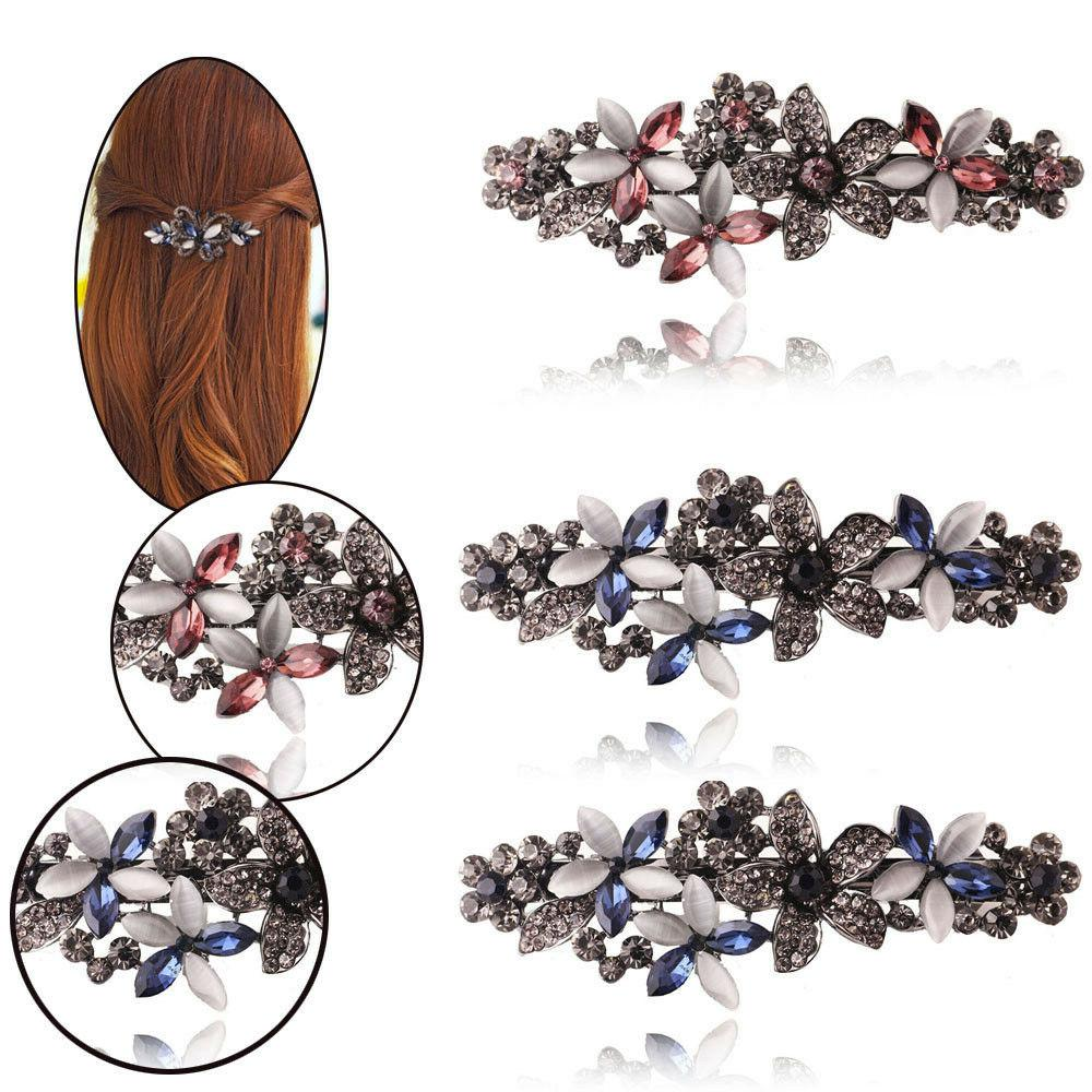 Classic Gemstone Hairpin Side Clip Accessories For