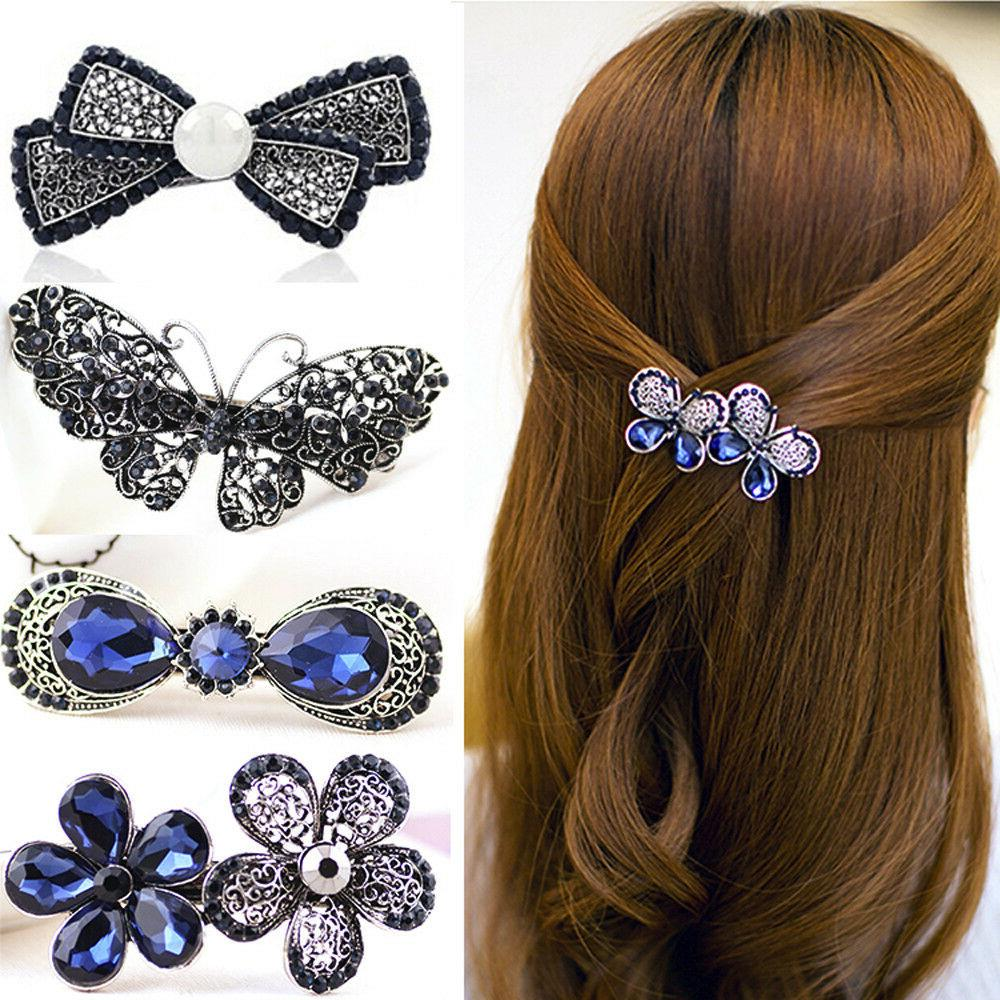 classic gemstone hairpin side clip hair accessories