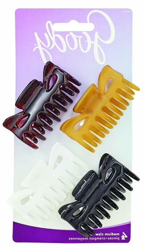 Goody Classics Claw Clip Medium 4 Count Hair Styling Tools A