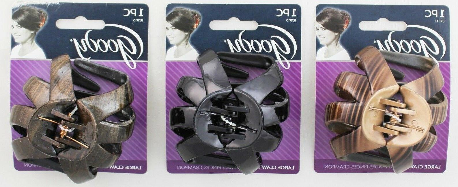 GOODY CLASSICS LARGE OCTAGON CLAW HAIR CLIPS