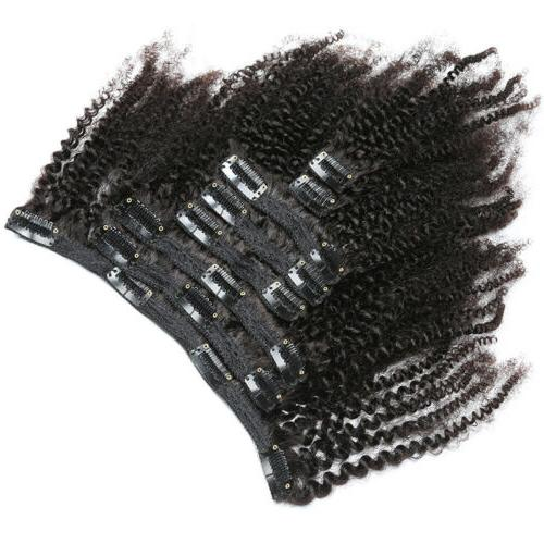 8pcs/Set Clips Kinky Hair Ombre Curly Hair US