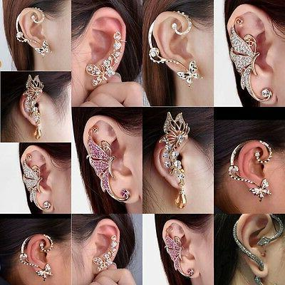 Cool Punk Rock Temptation Metallic Dragon Ear Cuff Wrap Clip