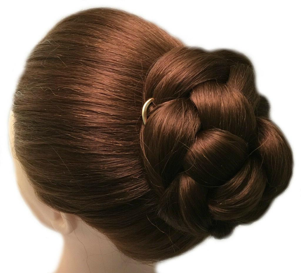 Copper Hair Gold Bun Hair Pin MEDIUM Hair