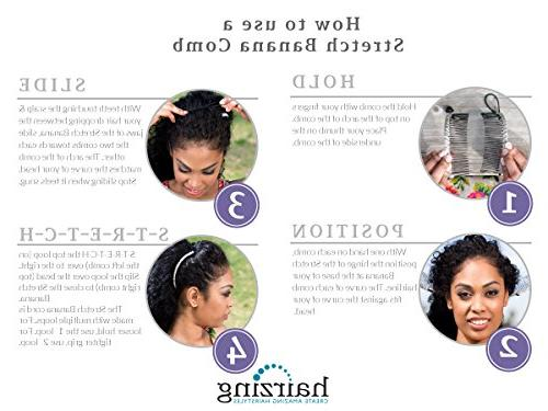 for Double Comb Band Hair Seconds Pain UpDo, Ponytail, Twist,