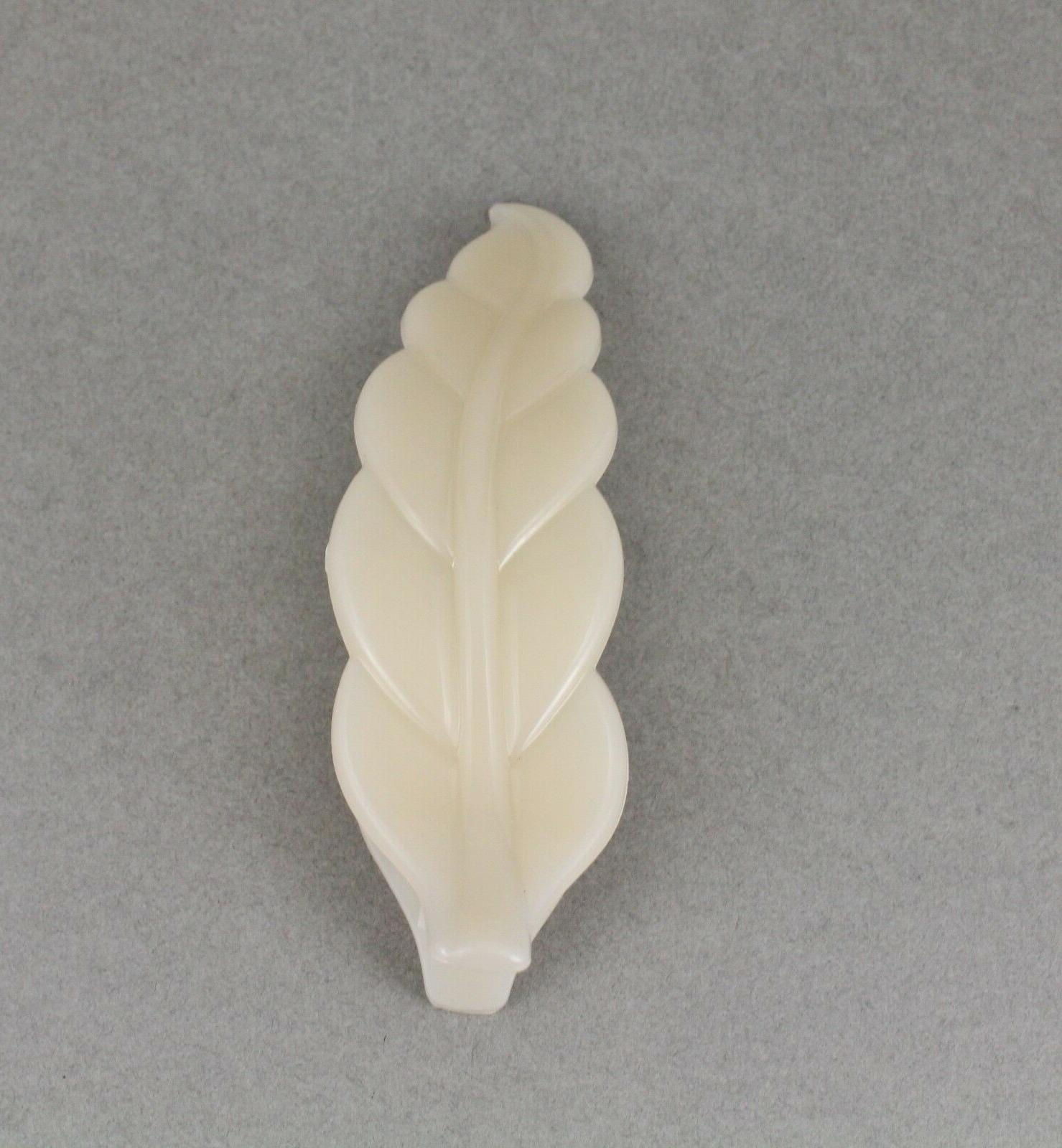 Cream hair clip leaves 4.5""