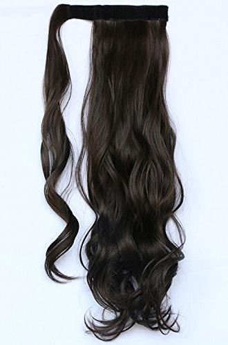 curly wrap around ponytail extension