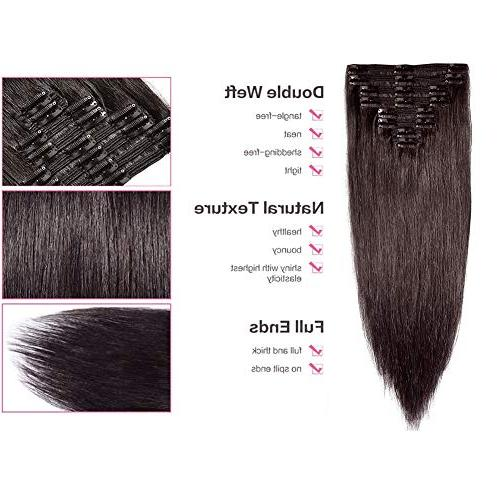 Double Remy Human Extensions Quality Head Thick Long 8pcs for Women
