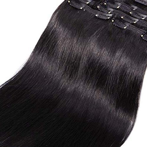Double Weft Human in Extensions Quality Long 8pcs Beauty