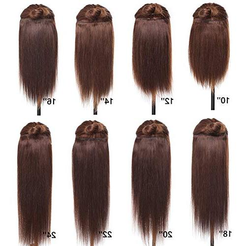 Double 100% Human in Extensions 14''-22'' Quality Full Head Thick Long Soft Straight 8pcs 18clips Beauty