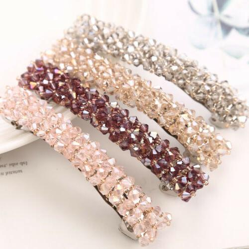 Elegant Barrettes Zircon Hair