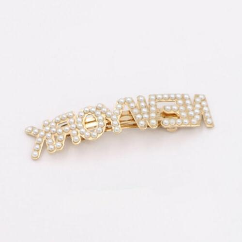 Elegant Pearl Barrettes Clips City Headdress Girls