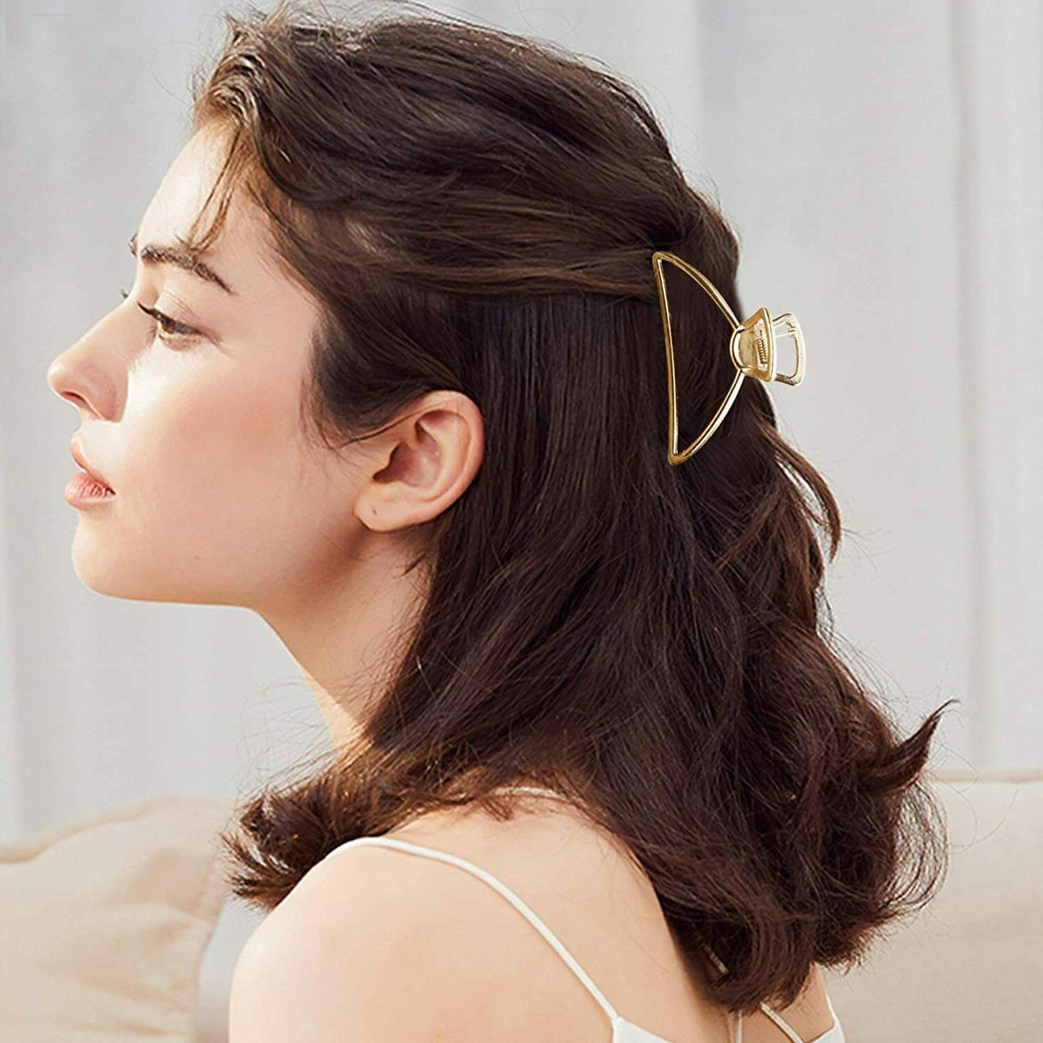 Fashion Large Metal Clips Open Claw Clip Hair Hair Accessories