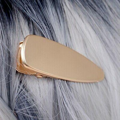 Fashion Girl Hollow Duckbill Hair Clips Barrettes Side