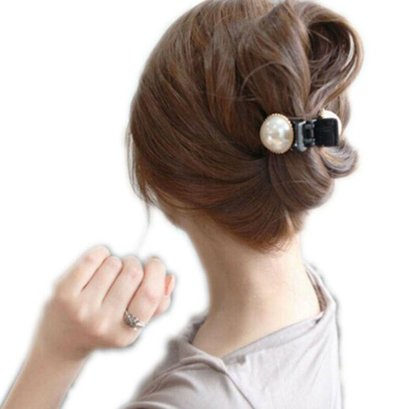 Fashion Women Girls Large Pearl Hair Clips Pins Claws Barret