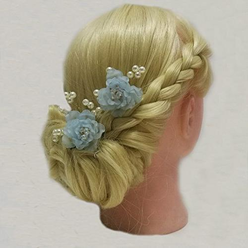 Handmade Frosted Resin Pearl Flower Hair Accessories Bridesmaids and Bridal Hair Clip