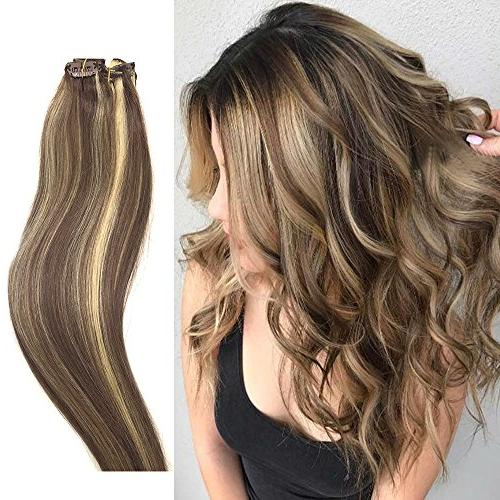 human hair extensions clip light