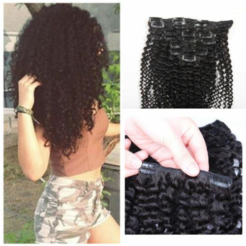 7pcs set kinky curly hair clip in