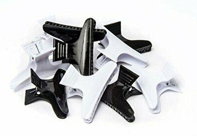 large butterfly clamps black and white 12