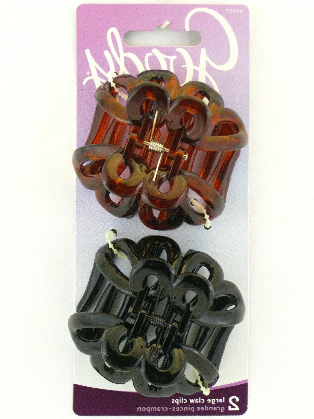 large claw hair clips 2 pcs 04507
