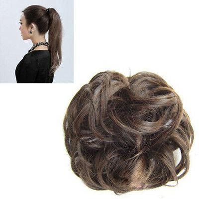 Large In Curly Chignon Updo Hairpiece Bun