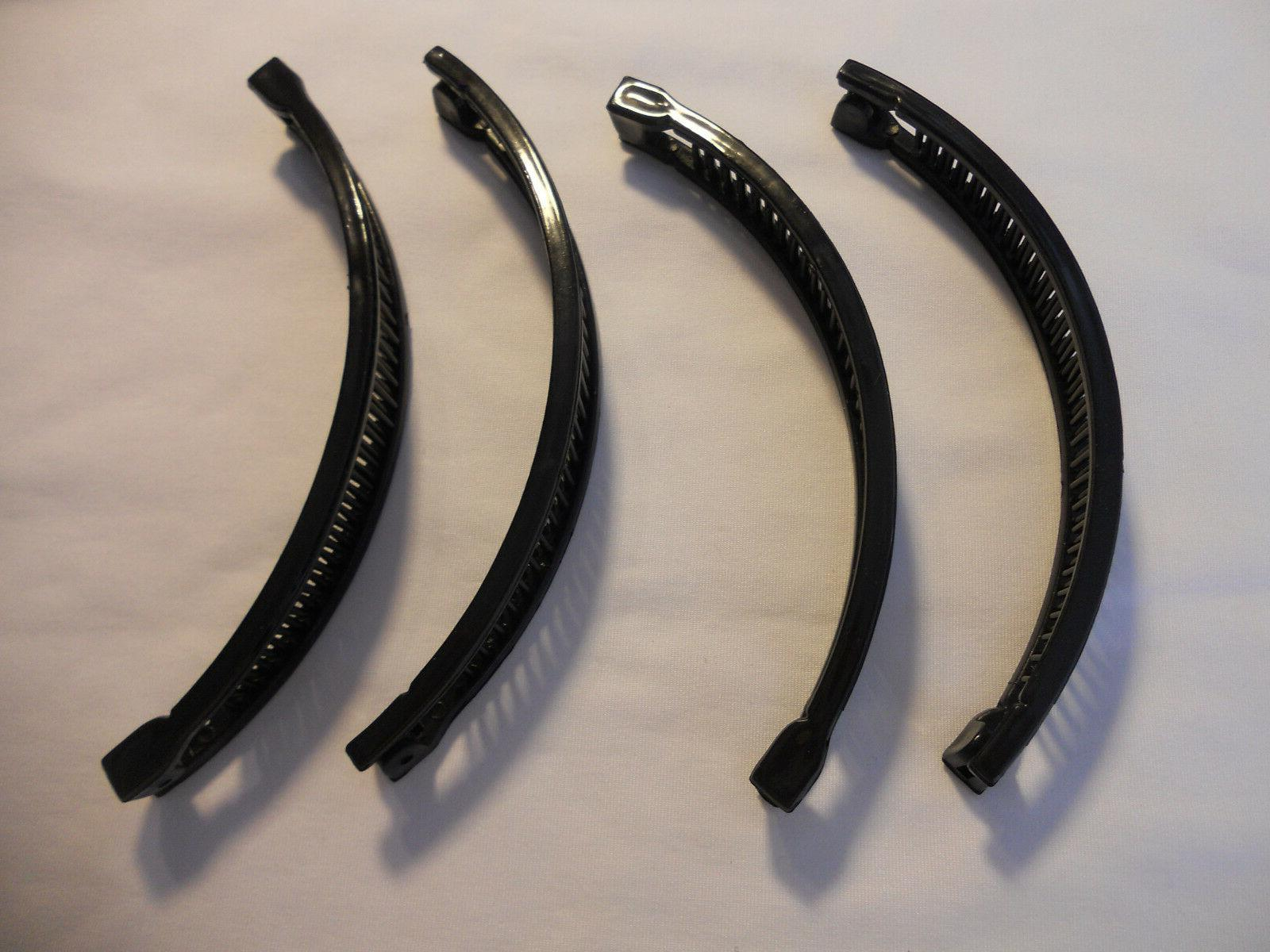 lot of 6 black long plastic banana