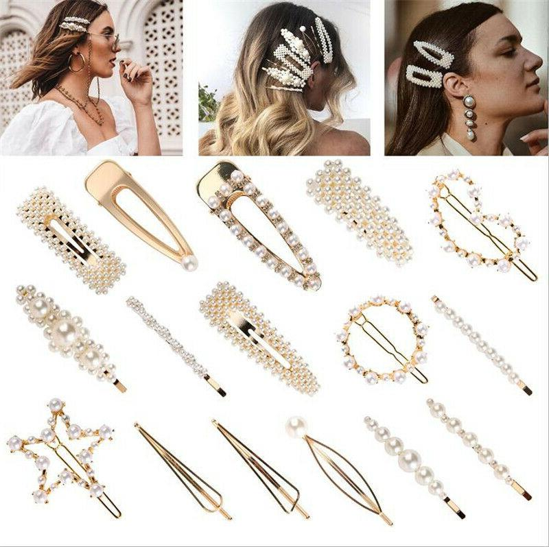 Luxury Clip Snap Barrette Hairpin Bobby Gift