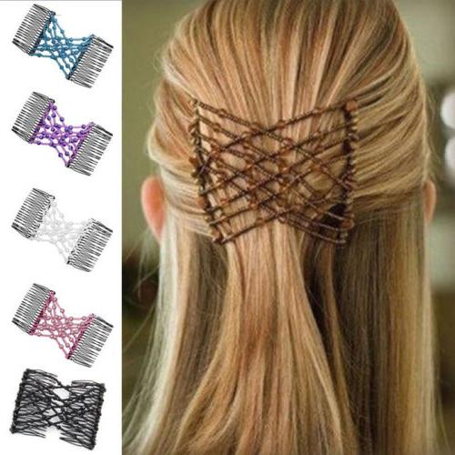Magic Comb Slide Elastic Double Easy Stretchy Hair Clips Combs