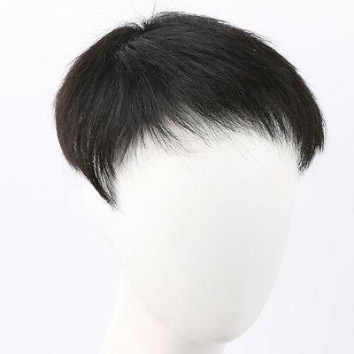 Men's 100% Real Hair Toupee Hairpiece Top Wig
