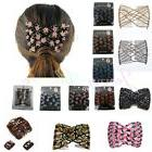 Multi-style Double Beads Stretchy Hair Comb Clip Stretchable