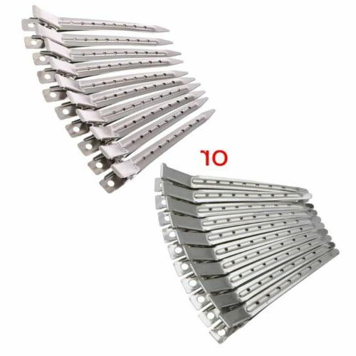 new 10pcs hair clips stainless steel hairdressing