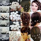 NEW 20/40Pc Wedding Bridal Pearl Flower Crystal Hair Pins Cl