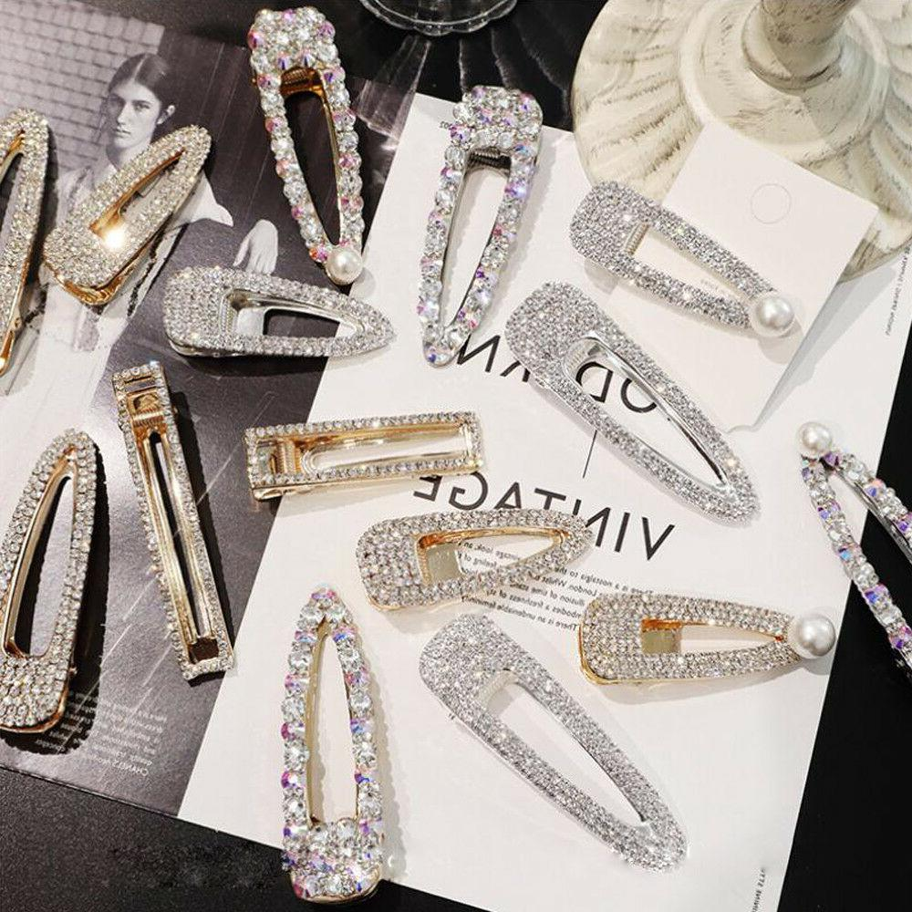 new fashion girls crystal hair clip snap