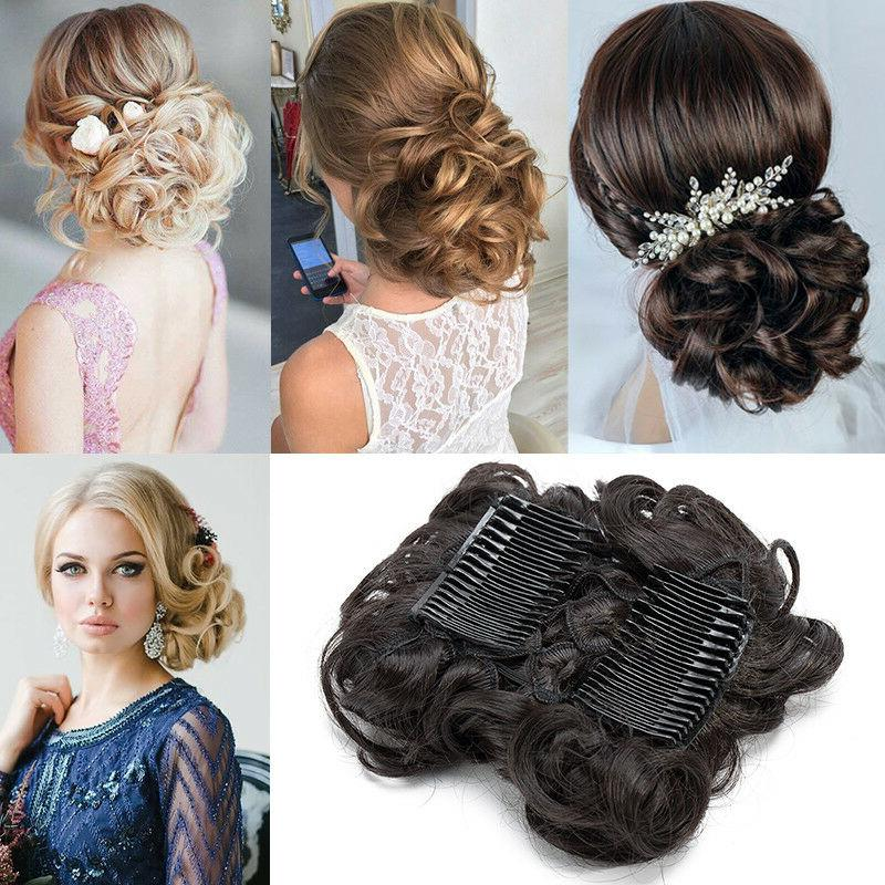 LARGE Comb Curly Updo Bun A4