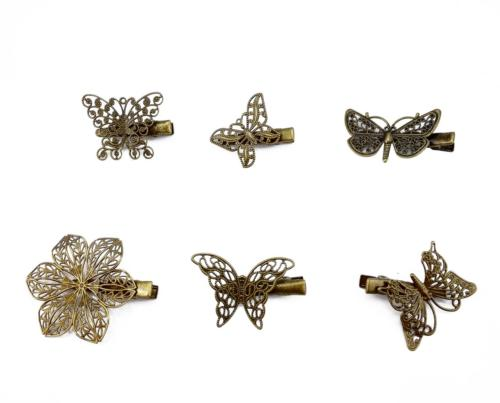 yueton?Pack of 6 Vintage Hairpin Butterfly Dragonfly Flower