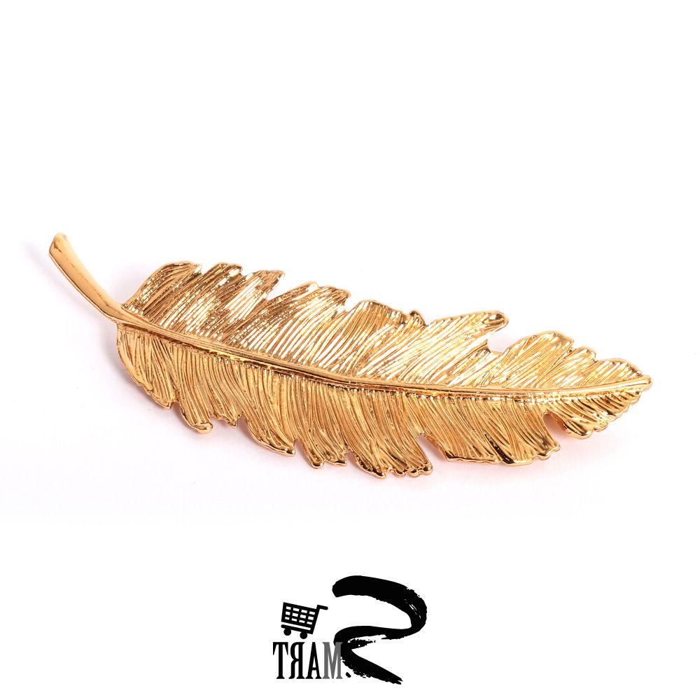 popular gold leaf textured hair clips accessories