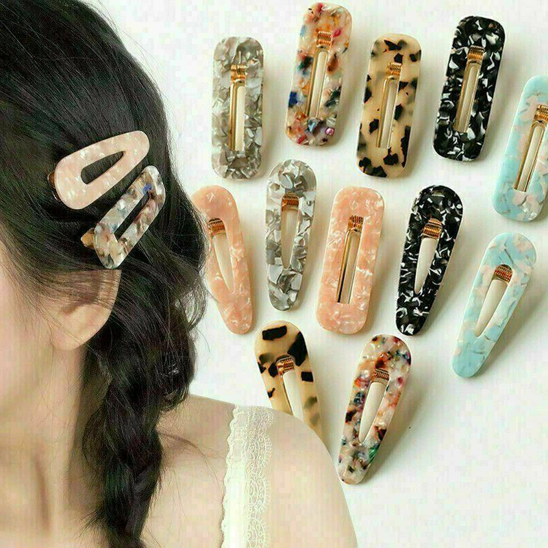 Popular Clip Snap Barrette Hairpin Gift
