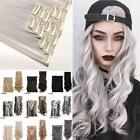 Real Natural 8Pcs Clip In Ins as Human Hair Extensions Full