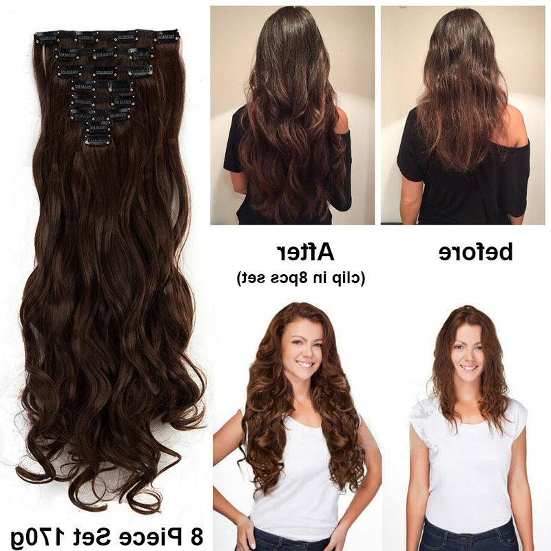 US Pieces In Extensions Head Real Long Wavy