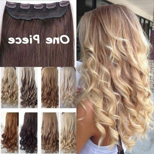 real thick 1pcs clip in 3 4