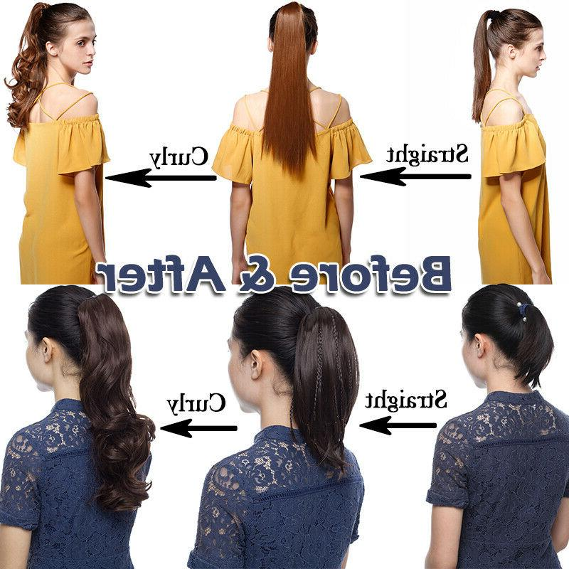 Real Clip Pony Extensions Claw Clip Ponytail As Human