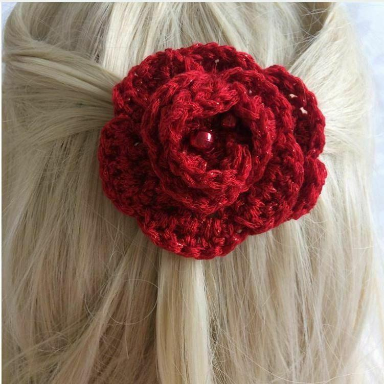 red flower hair clip hat pin liverpool
