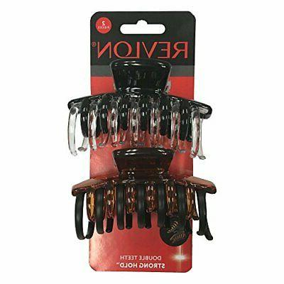 revlon strong hold hair claw clips strong